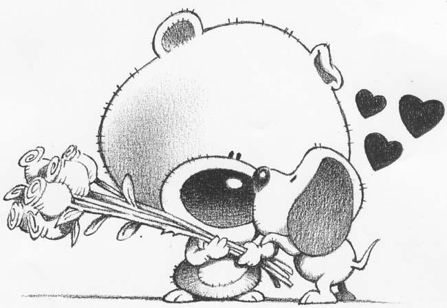 Bear Dog Love